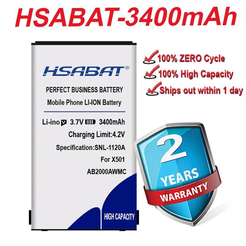 100% camiseta nueva marca HSABAT batería de 3400mAh para PHILIPS X3560 X2300 X333 AB2000AWMC Xenium X501 X513 X523 X130 X623