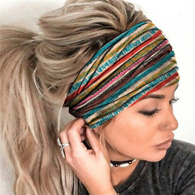 Female Elastic Sports Wide Hair Band Outdoor Running Headscarf Casual Fitness Headband Clothing Accessories Leisure Headband