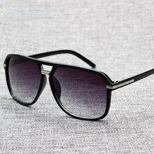 2021 Fashion Men Cool Square Style Gradient Sunglasses Driving Vintage Brand Design Cheap Sun Glasse
