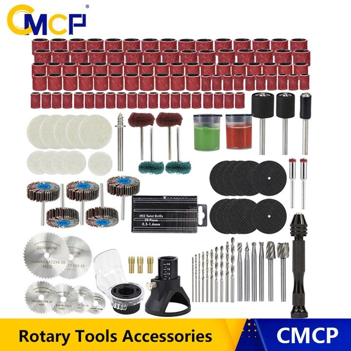 CMCP döner alet aksesuar zımpara parlatma taşlama aracı aşındırıcı aletler ahşap Metal gravür Dremel aksesuarları