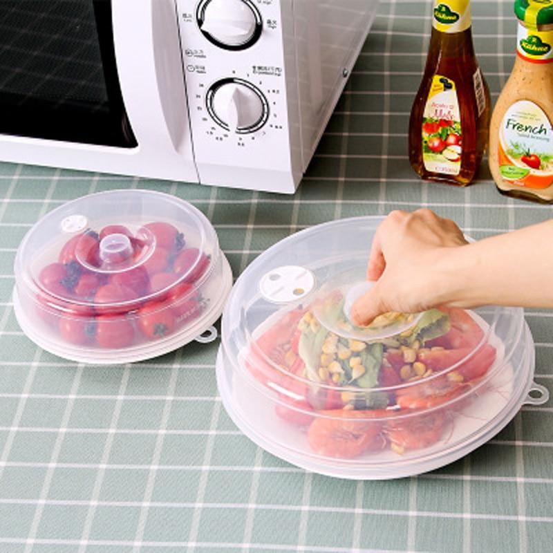 Еда чехол прозрачный Вентилируемые крышки для микроволновой печи посуда блюдо для печи сковородок (плитой крышки анти-всплеск Кепки