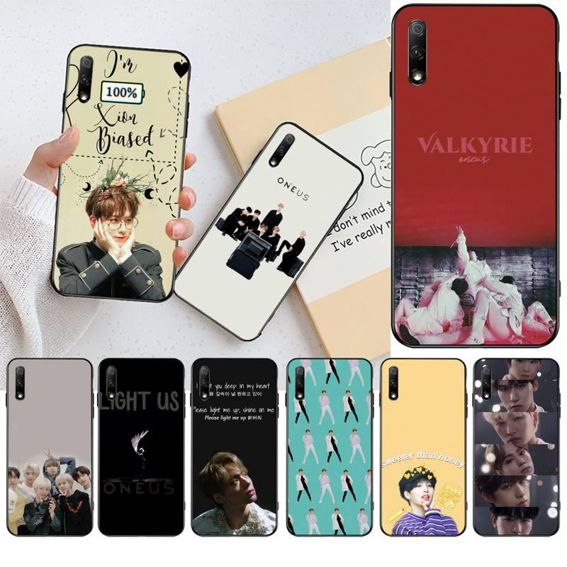 CUTEWANAN Korea KPOP ONEUS miękki silikonowy czarny futerał na telefon do Huawei Honor 20 10 9 8 8x 8c 9x 7c 7a Lite view pro