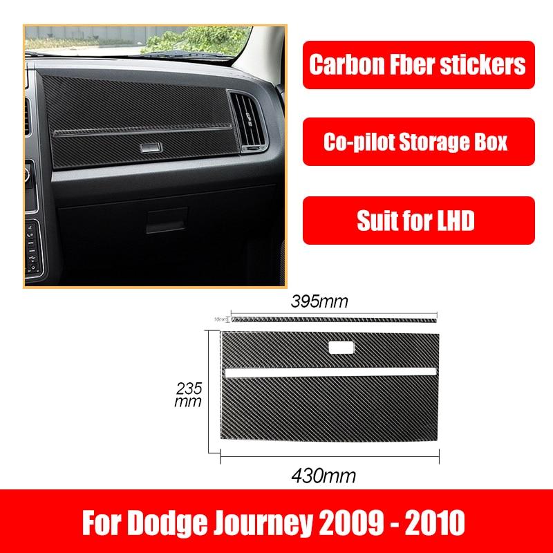Carbon Fiber Stickers For Dodge Journey 2009-2010 Glove Box Top Panel Car Accessories Interior Decoration Automotive Goods
