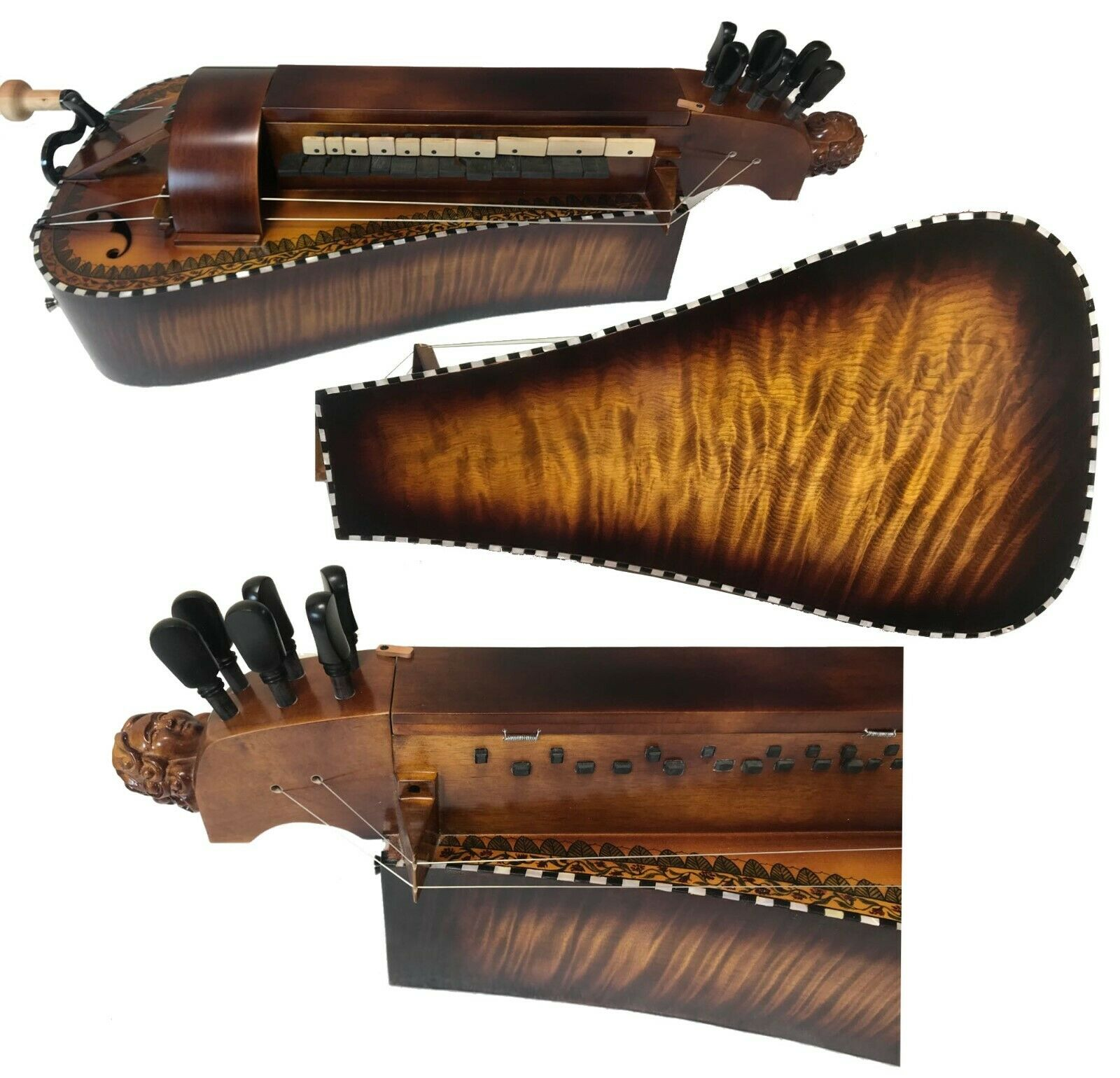 Carcasa con incrustación de madera de arce para mujer, accesorio de 6...