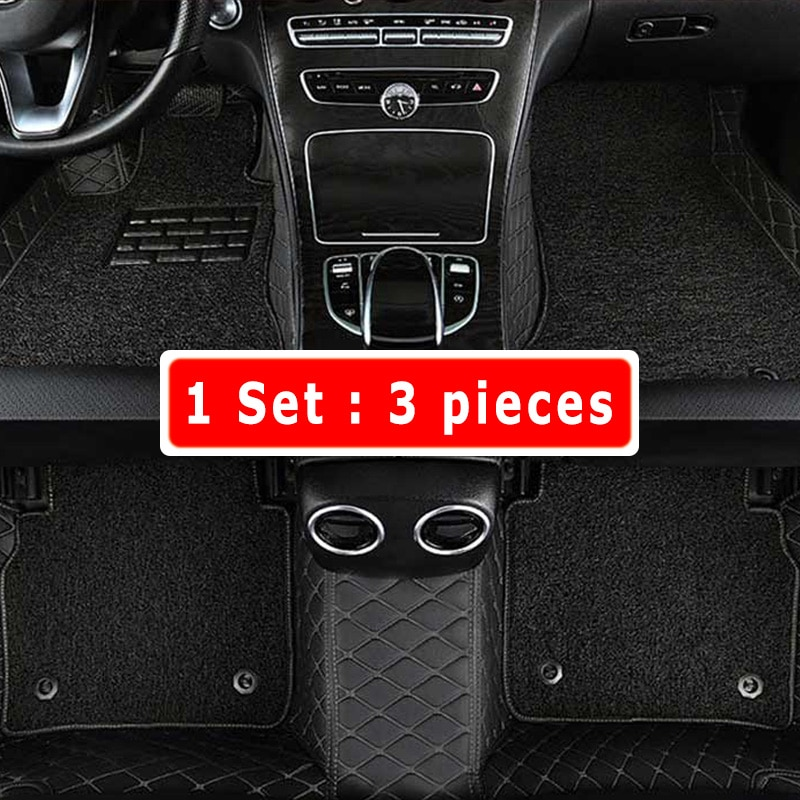 Car Floor Mats Carpets For Cadillac CTS 4 Doors 2013 2012 2011 2010 2009 2008 Double Layer Wire Loop Interior Leather Custom enlarge