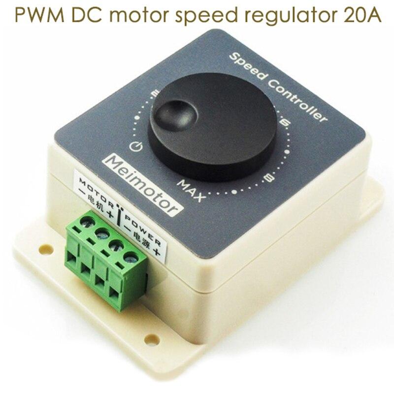 10-60V 20A DC Controlador de Velocidade Do Motor 12V/24V/36V/48V unidade de alta Potência DC Regulador de Velocidade Do Motor com Casca Impermeável