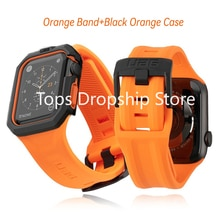 Soft Silicone Watch Strap for Apple Watch 38/40/42/44mm Band Waterproof Bracelet for iWatch 6/SE/5/4/3/2 Wristband For UAG Loop