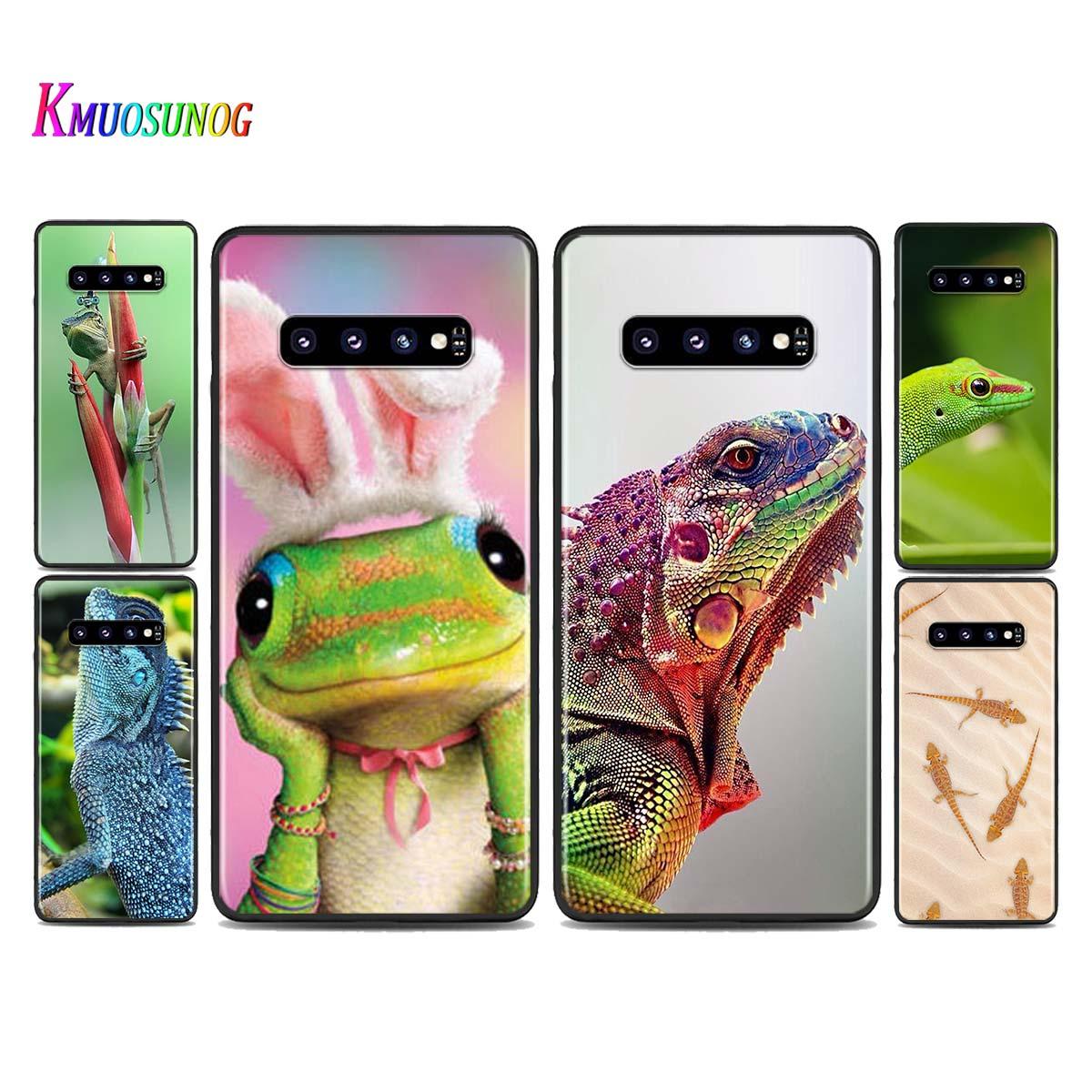 Funda de silicona Animal gecko lagarto para Samsung Galaxy Note 10 9 8 Plus S10 S10E 5G S9 S8 S7 Plus S6 Edge funda de teléfono