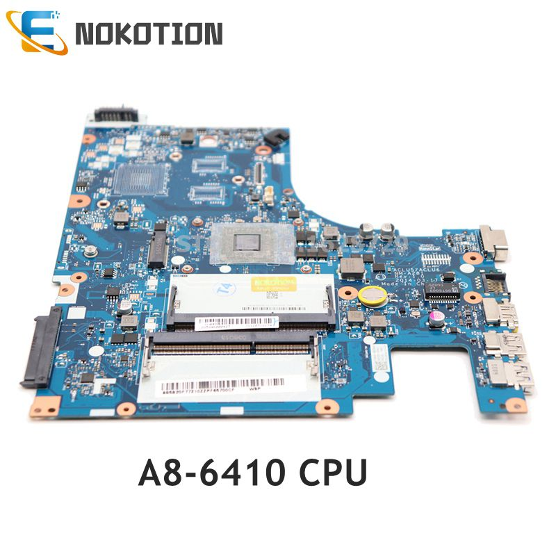 NOKOTION Laptop Motherboard For Lenovo G50 G50-45 A8-6410 CPU ACLU5 AULU6 NM-A281 REV:1.0 DDR3 MAIN BOARD Full tested