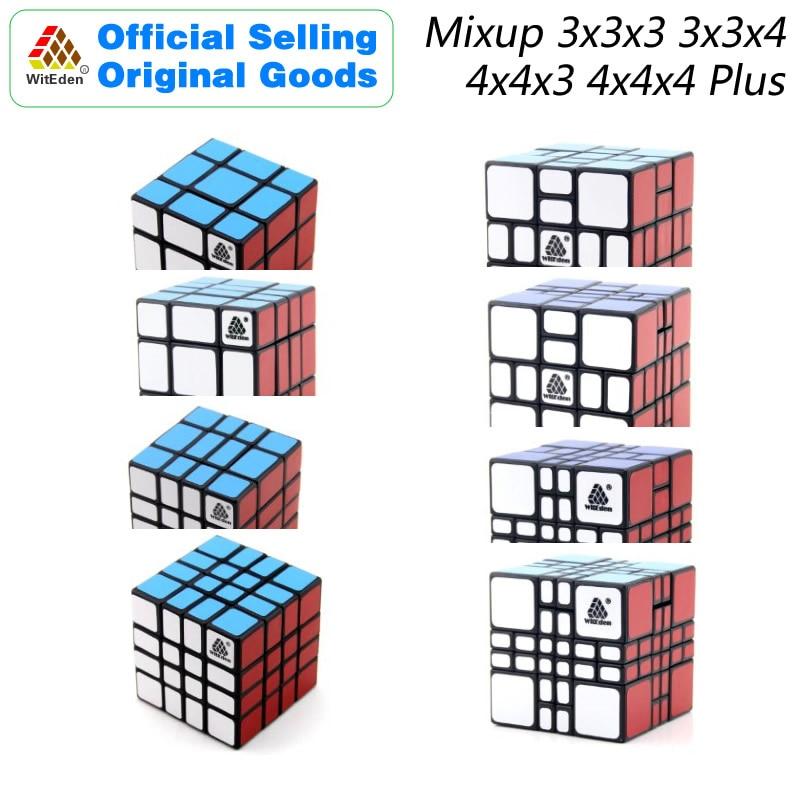 WitEden Mixup-ألعاب تعليمية للأطفال ، 3x3x3x4 4x4x3 4x4x4x4 Plus ، المكعب السحري ، الألغاز ، تحفيز الدماغ السريع