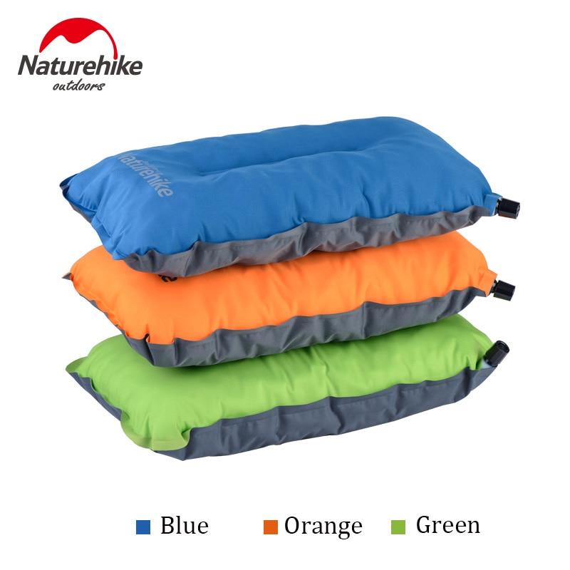 Naturehike ao ar livre travesseiro inflável automático dobrável dormir travesseiro de acampamento portátil conforto viagem ar almoço break