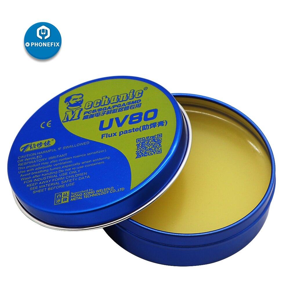 Mecánico UV de flujo de colofonia pasta Crema para Estación de soldadura de estaño crema pasta de soldar BGA para PCB BGA PGA Soldadura SMD pasta