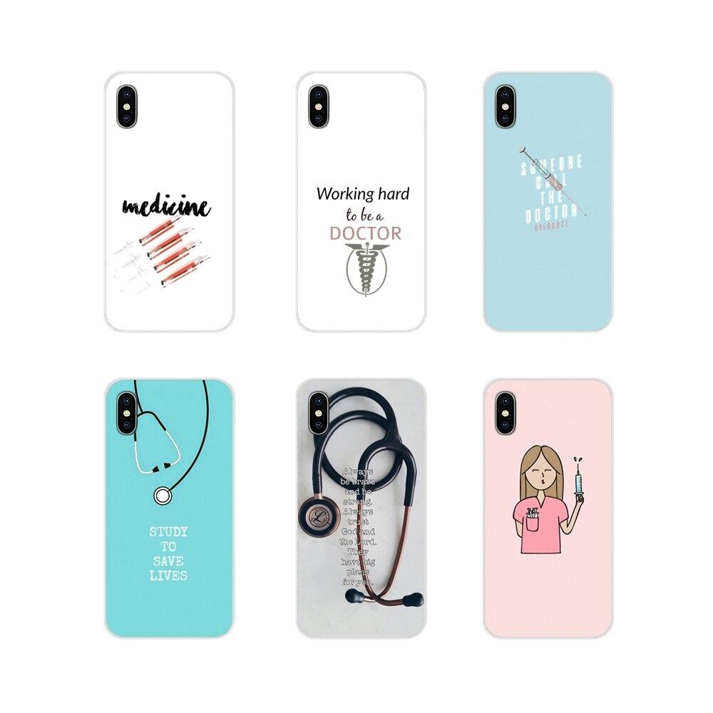 Для Apple iPhone X XR XS 11Pro MAX 4S 5C SE 6S 7 8 Plus ipod touch 5 6 TPU Чехлы для медицинских работников медсестер
