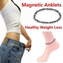 Femme noir magnétique cheville Bracelet perles chaîne énergie Bracelet corps minceur Bracelet femmes bijoux santé rapide envoyé en gros