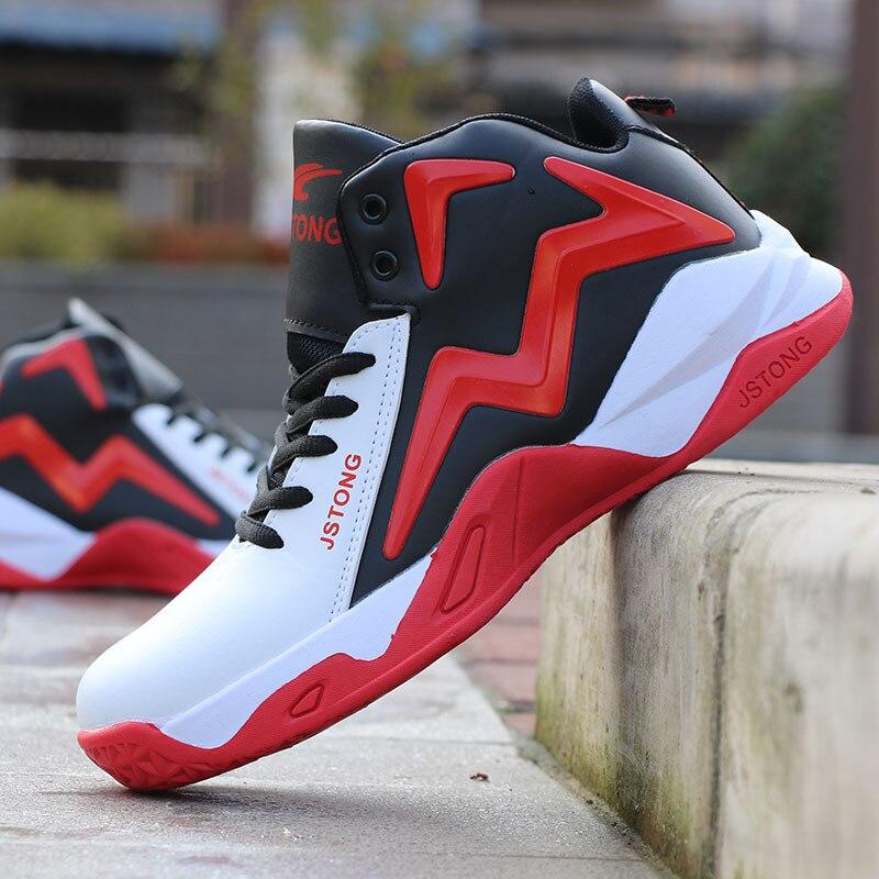 Горячая Распродажа Баскетбольная обувь, удобные высокие кроссовки, тренировочные мужские мягсветильник легкие кроссовки, спортивная обув...