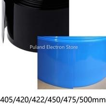 Boîtier de protection contre la chaleur PVC noir bleu   Tube thermorétractable en PVC largeur 405 420 422 450 475mm, Lipo isolé par batterie, boîtier de protection