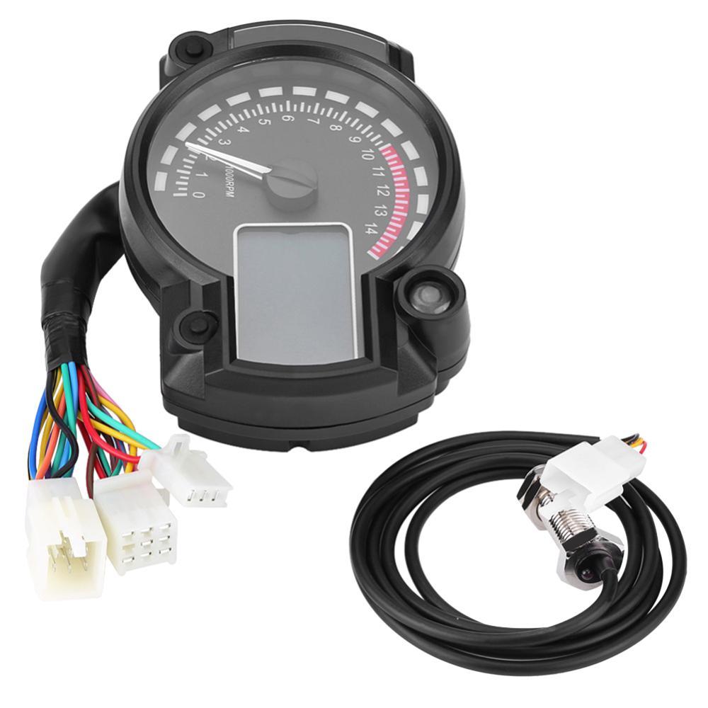 Tacómetro Universal para motocicleta, pantalla LED, medidor de 12V CC, velocímetro de 199 km/h con Sensor de velocidad, odómetro de calibre para motocicleta