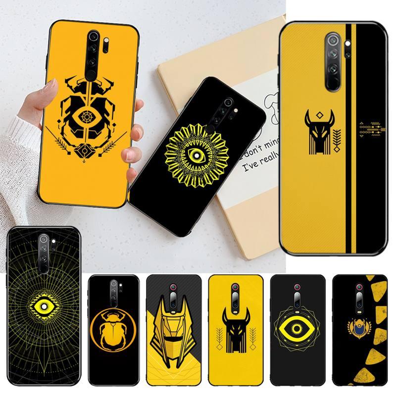 HPCHCJHM, funda de teléfono negro suave con emblema Osiris para Redmi Note 8 8A 7 6 6A 5 5A 4 4X 4A Go Pro Plus Prime
