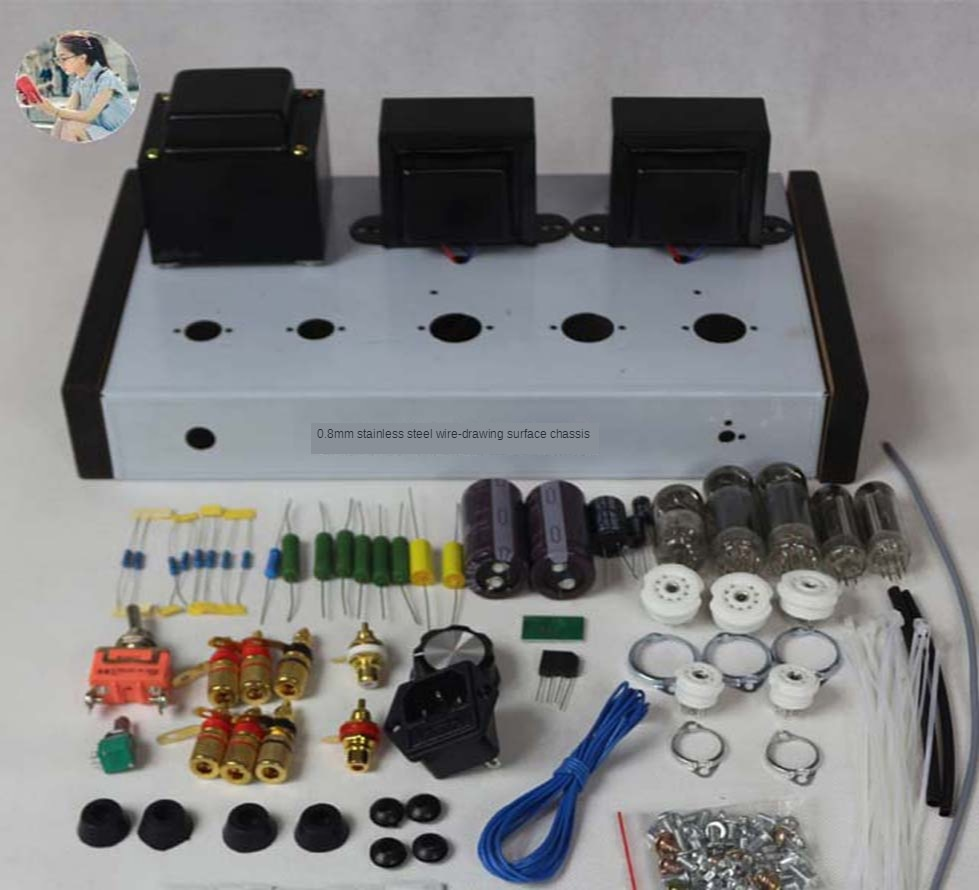 2021 Nobsound Home Audio Tube Amplifiers DIY Kit 6Z4 + 6N2 + 6P1 Stainless Steel Shell Power Output