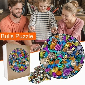 Sea World Wooden Puzzle Unique Shape Pieces Animal Gift for Adults and Kids Game Interesting Toys Personalized gift 2021