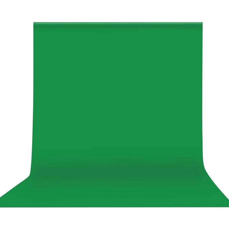 3x3M/10x10 pies profesional verde pantalla telón de fondo estudio fotografía Fondo poliéster lavable-tela de algodón