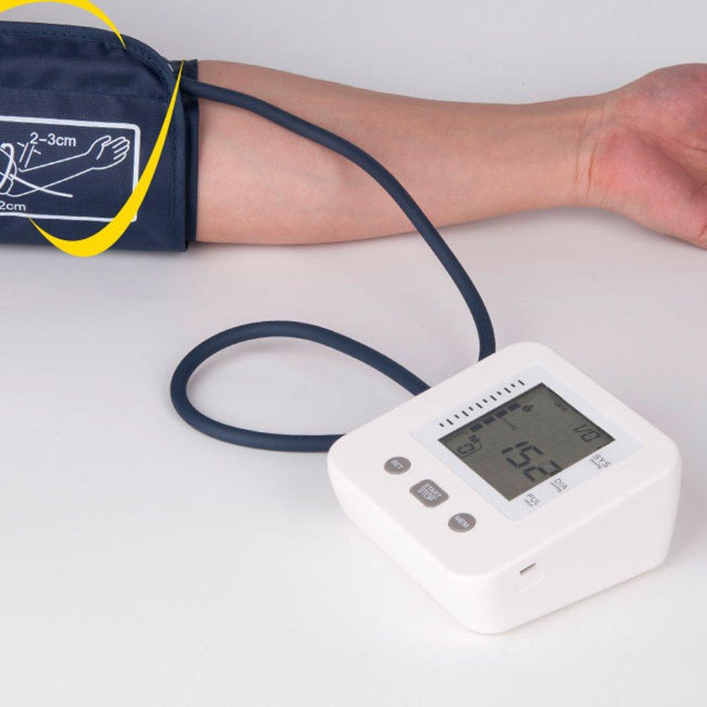 Портативный прибор для измерения артериального давления, домашний сфигмоманометр, цифровой электронный мини-тонометр на руку