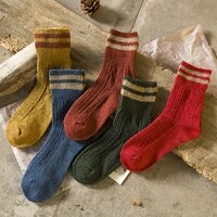 1pair cotton knitting striped women short socks solid color fashion comfortable soft college style elastic casual female socks