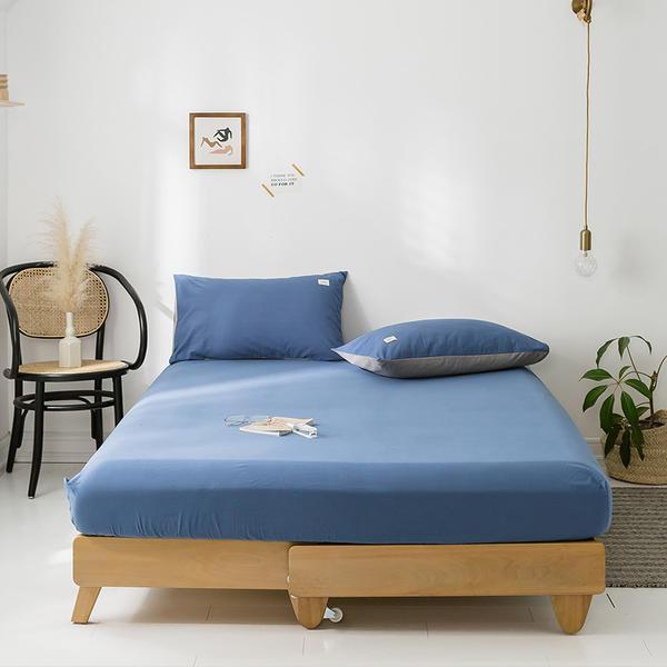 Sábana bajera de algodón 100% de alta calidad, Sábana de cama de Color sólido, fundas de almohada tamaño Queen King, Sábana de tamaño doble 150x200/180x200cm