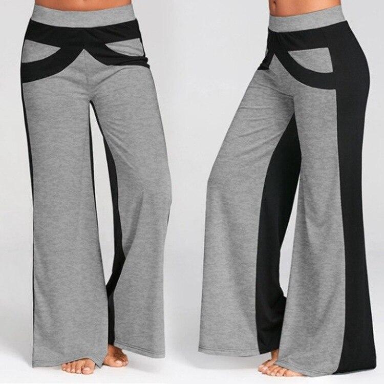 Sweatpants Women Gothic Plus Size Pants Casual Color-blocking Wide-leg Summer 2021 Woman Korean Style