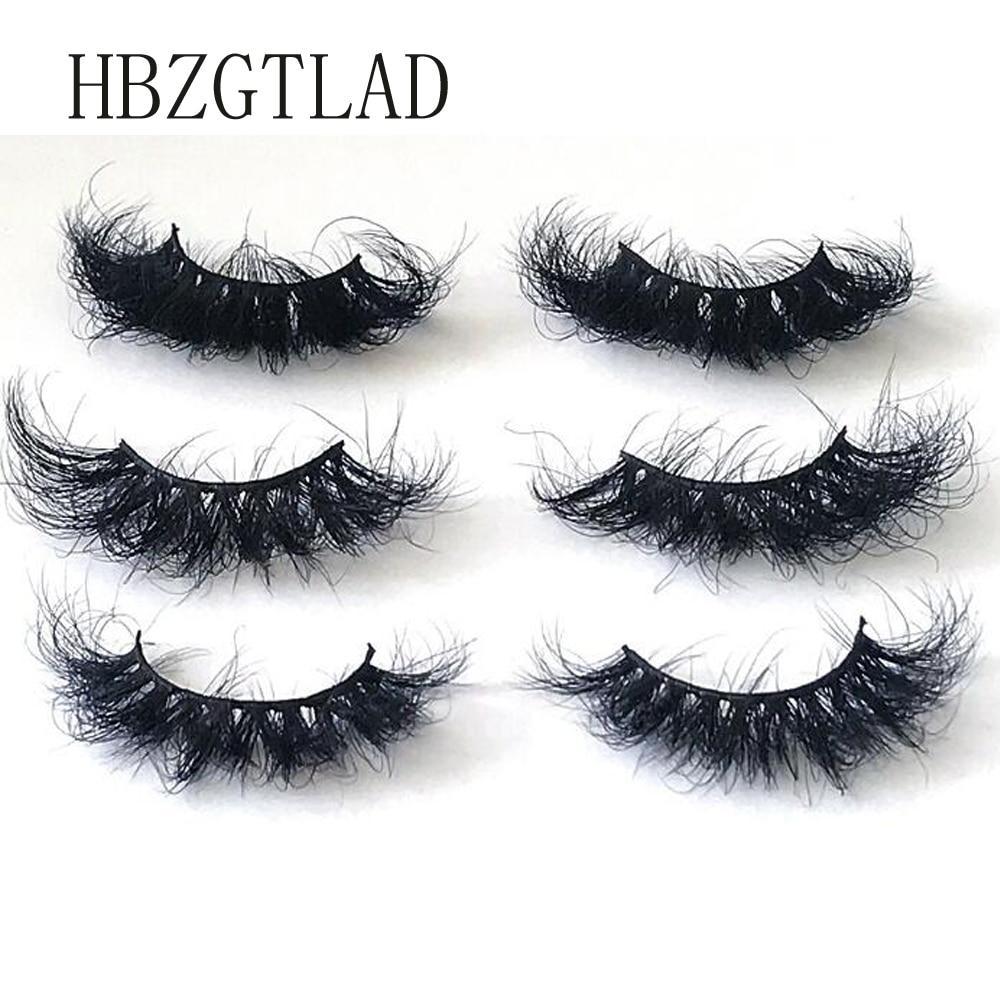 Mink Lashes 25mm Fluffy Messy 3d False Eyelashes Handmade Dramatic Long Natural Lashes 100% Mink Eye