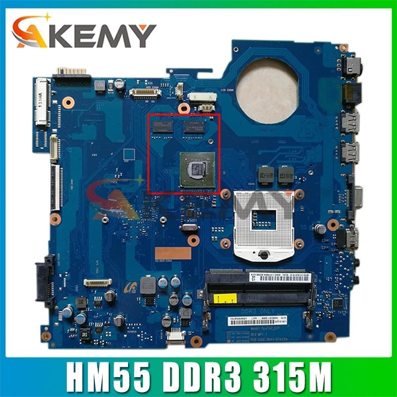 AKEMY BA92-07405A BA92-07405B BA41-01423A اللوحة الرئيسية ل سامسونج RV511 15.6 بوصة اللوحة المحمول HM55 DDR3 315M شحن وحدة المعالجة المركزية