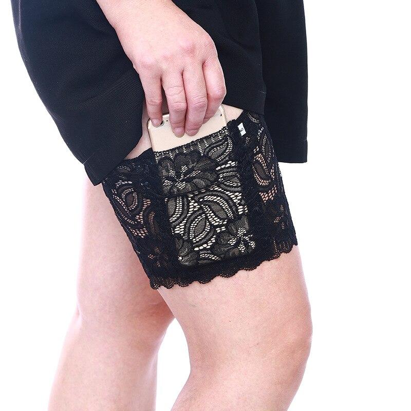 1 шт Анти-Chafing бедра гетры невидимый карман для телефона Для женщин силиконовые Нескользящие сапоги до бедра ленты для ног Лето сексуальное ...