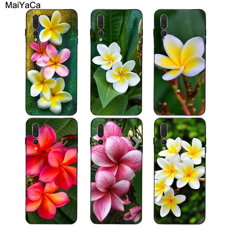 Maiyaca frangipani flores tropicais estojo para huawei p40 p30 p20 pro p10 lite mate 20 10 30 pro lite p inteligente 2019 z