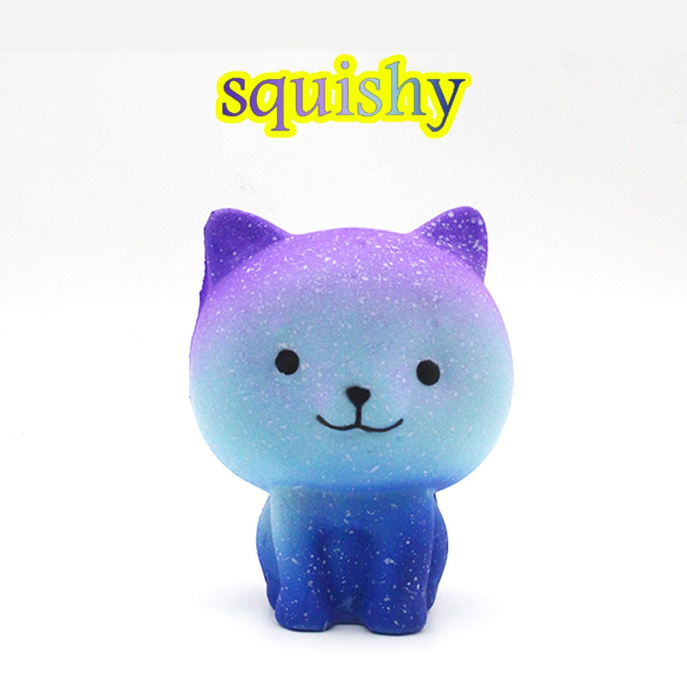 Star Kitty Decompression Toys Slow Rebound PU Toys Jumbo Cute Cat Squishies Slow Rising Kids Toys Doll Stress Relief Toys 2021 pu slow rebound jumbo squishy whale toys