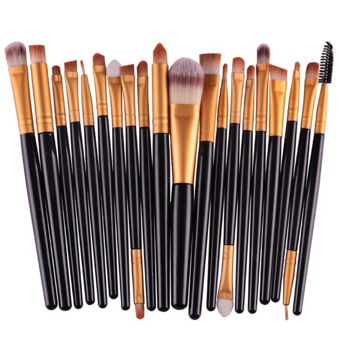 20 teile/satz Make-Up Pinsel Pro Blending Lidschatten Powder Foundation Augen Augenbraue Lip Eyeliner Make-up Pinsel Kosmetik Werkzeug