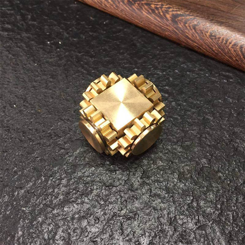 Anti Stress Gyro Gear Linkage Cube Pure Copper Finger Mechanical Gyro Adult Decompression Toy Stress Relief Perfect Cube Gift enlarge