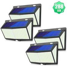 288 LED lumière solaire extérieure lampe solaire alimenté lumière du soleil étanche PIR capteur de mouvement 3 Mode rue mur lumière jardin décoration