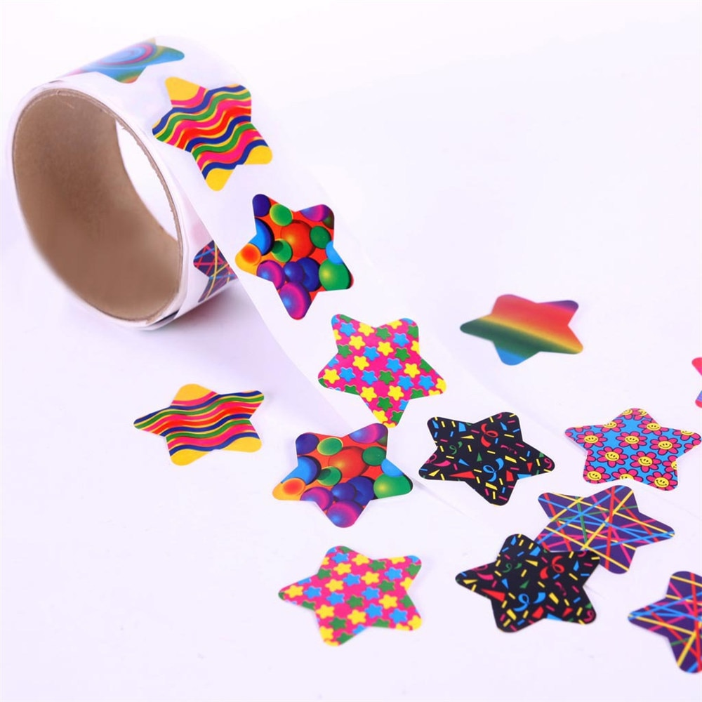 Tape School Cute Creative Pentagram Kids Toy Reward 3.8cm 100pcs Stationery