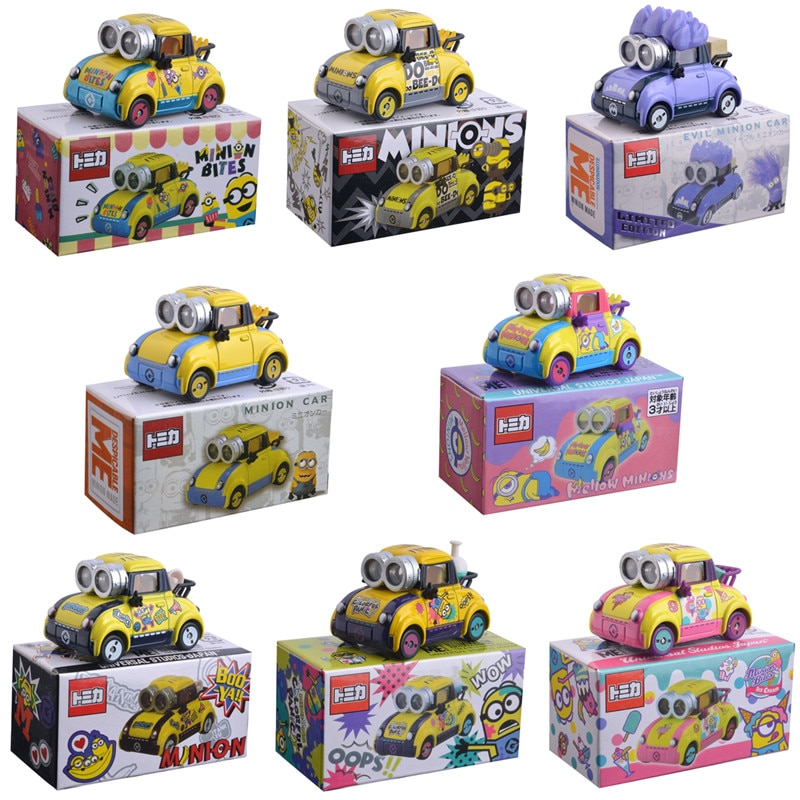 TAKARA TOMY Despicable Me Minions Evil Kevin 1:64 Diecat Vehicle Metal Alloy Car Model Toys For Children's Birthday Gifts