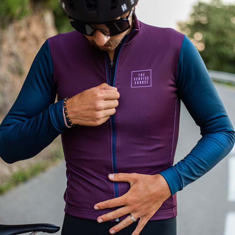 2020 Ciclismo Jersey hombre Jersey de manga larga de invierno de lana...