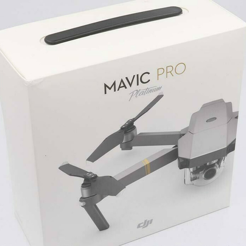 DJI-طائرة بدون طيار Mavic Pro Platinum uav ، كاميرا 1080 P ، فيديو 4K RC ، مروحية FPV Quadcopter (جديد 99.99%) مع صندوق محكم الإغلاق