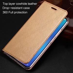 Leather Phone Case For Realme 3 5 6 Pro Q X XT X2 X50 pro Case Wallet Cowhide Cover