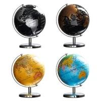 modern creative plastic globe iron art retro rotating earth geography world globe map model with base educational decor