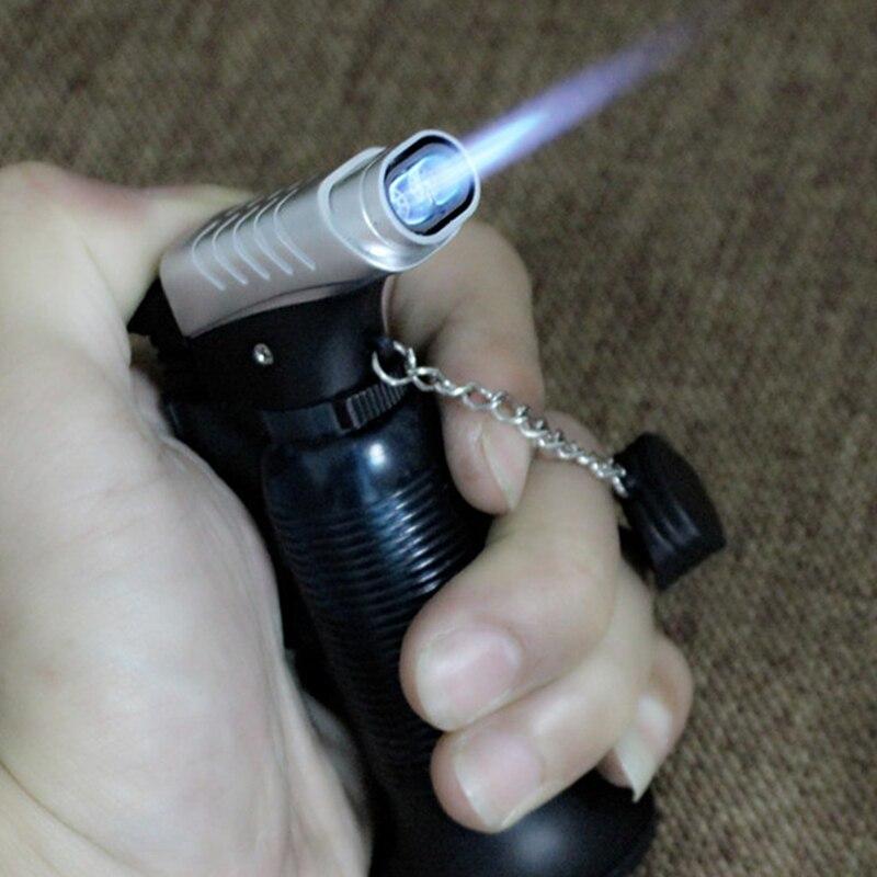 Two Nozzle BBQ Cooking Welding Torch Lighter Butane Jet Gas Lighter Turbo Portable Spray Gun 1300 C