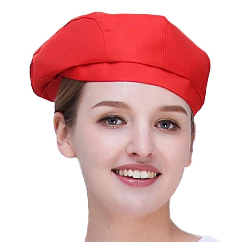 Hommes femmes maille Patchwork Chef Restaurant cuisine cuisine travail porter chapeaux hôtel Bakey café serveur casquette respirante