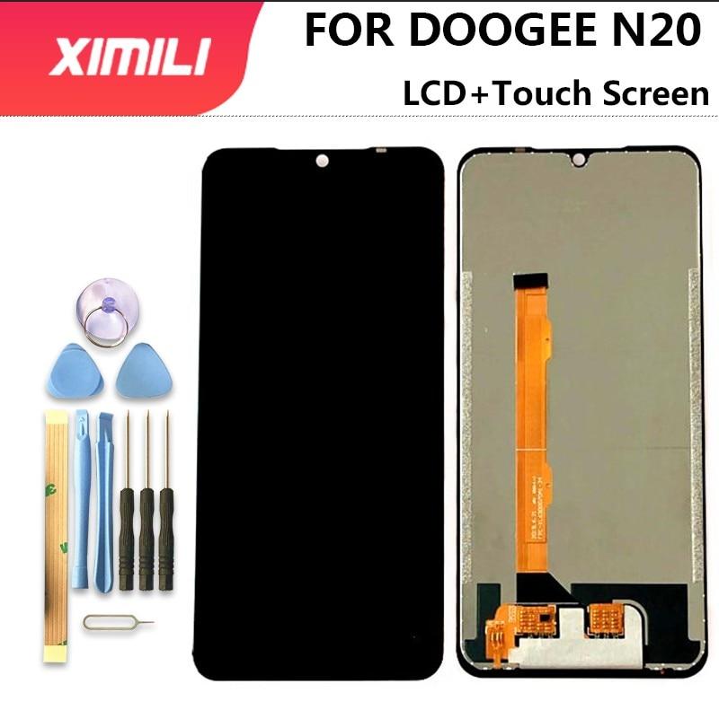Дисплей Для DOOGEE N20, ЖК-дисплей, кодирующий преобразователь сенсорного экрана в сборе, сенсорный экран, 6,3 дюйма