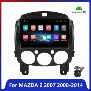 Android 10.1 Car Radio Multimedia Player for Mazda 2 2007 2008 2009 2010 2011 2012 2013 2014 Navi GPS Auto 2 din no dvd WIFI
