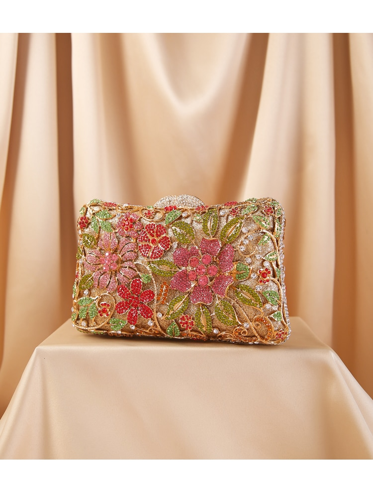 حقيبة يد نسائية متعددة الألوان من حجر الراين ، حقيبة كتف مع سلسلة ، حقيبة حفلات فاخرة ، للأم