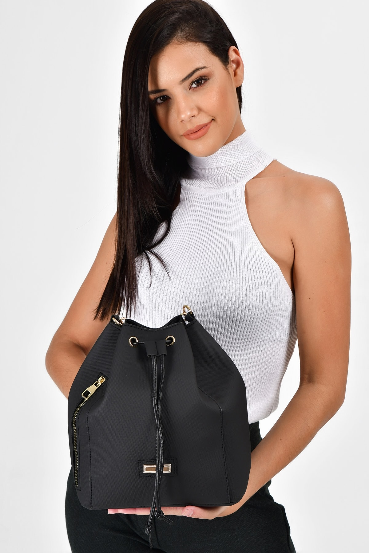 Bagzone Gathered Zipper Detailed Shoulder Bag,Women's bag,сумка женская,Handbags,Bags for women,shoulder bag leather,Women's bra