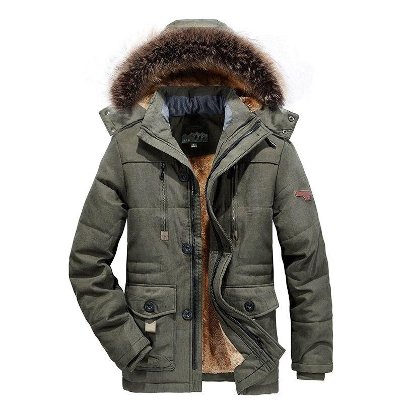 2021 new men's winter padded jacket warm and thick coat large size adult men's M-XXXXXXL jacket men's parka coat